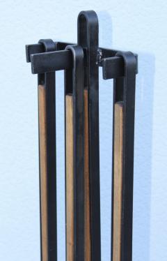 Tony Paul 1960s Tony Paul Attributed Oak And Iron Fireplace Tools - 1754824