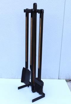 Tony Paul 1960s Tony Paul Attributed Oak And Iron Fireplace Tools - 1754826