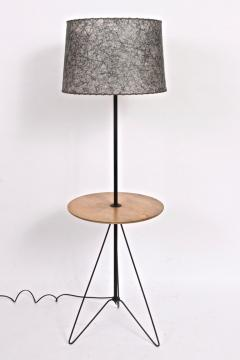 Tony Paul Tony Paul Style Maple Black Wire Hairpin Side Table Floor Lamp C 1960 - 1685955