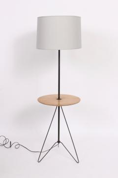 Tony Paul Tony Paul Style Maple Black Wire Hairpin Side Table Floor Lamp C 1960 - 1695134