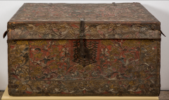 Tooled Leather Trunk - 1368833
