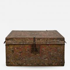 Tooled Leather Trunk - 1369965
