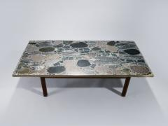 Torbj rn Afdal Large stones and brass coffee table by Torbj rn Afdal 1960s - 987030