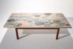 Torbj rn Afdal Large stones and brass coffee table by Torbj rn Afdal 1960s - 989036