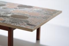 Torbj rn Afdal Large stones and brass coffee table by Torbj rn Afdal 1960s - 989038