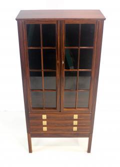 Torbjorn Afdal Distinctive Scandinavian Modern Rosewood Display Case by Torbjorn Afdahl - 1633709