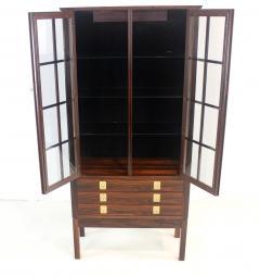 Torbjorn Afdal Distinctive Scandinavian Modern Rosewood Display Case by Torbjorn Afdahl - 1633711