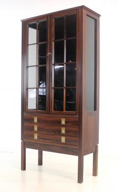 Torbjorn Afdal Distinctive Scandinavian Modern Rosewood Display Case by Torbjorn Afdahl - 1633720