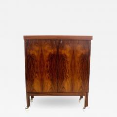 Torbjorn Afdal Expansive Scandinavian Modern Rosewood Flip Top Bar Cart by Torbjorn Afdal - 1514179