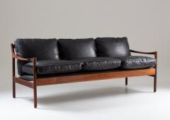 Torbjorn Afdal Midcentury Scandinavian Sofa in Leather and Rosewood by Torbj rn Afdal - 1690118