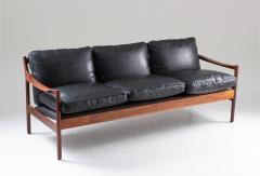 Torbjorn Afdal Midcentury Scandinavian Sofa in Leather and Rosewood by Torbj rn Afdal - 1690119