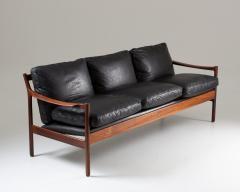Torbjorn Afdal Midcentury Scandinavian Sofa in Leather and Rosewood by Torbj rn Afdal - 1690120