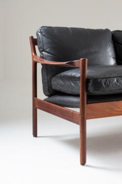 Torbjorn Afdal Midcentury Scandinavian Sofa in Leather and Rosewood by Torbj rn Afdal - 1690121