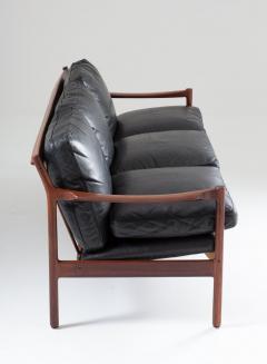 Torbjorn Afdal Midcentury Scandinavian Sofa in Leather and Rosewood by Torbj rn Afdal - 1690122