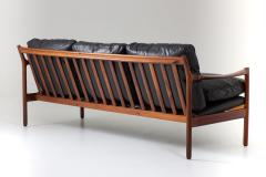 Torbjorn Afdal Midcentury Scandinavian Sofa in Leather and Rosewood by Torbj rn Afdal - 1690124