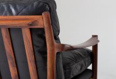 Torbjorn Afdal Midcentury Scandinavian Sofa in Leather and Rosewood by Torbj rn Afdal - 1690125