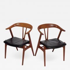 Torbjorn Afdal Pair arm chairs by Torbjorn Afdal for Bruksbo - 1864134