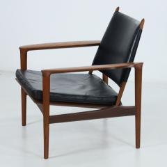 Torbjorn Afdal Rare Broadway Teak Leather Armchair Designed by Torbjorn Afdahl - 2132297
