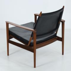 Torbjorn Afdal Rare Broadway Teak Leather Armchair Designed by Torbjorn Afdahl - 2132298