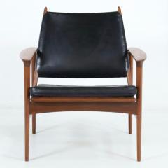Torbjorn Afdal Rare Broadway Teak Leather Armchair Designed by Torbjorn Afdahl - 2132299