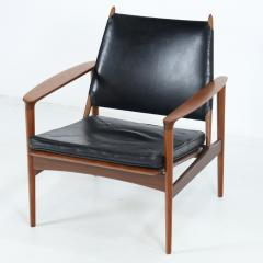 Torbjorn Afdal Rare Broadway Teak Leather Armchair Designed by Torbjorn Afdahl - 2132300