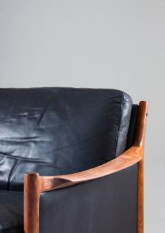 Torbjorn Afdal Scandinavian Midcentury Leather and Rosewood Lounge Chairs by Torbj rn Afdal - 1690133