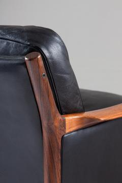 Torbjorn Afdal Scandinavian Midcentury Leather and Rosewood Lounge Chairs by Torbj rn Afdal - 1690134