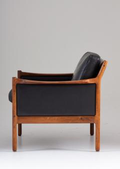 Torbjorn Afdal Scandinavian Midcentury Leather and Rosewood Lounge Chairs by Torbj rn Afdal - 1690137