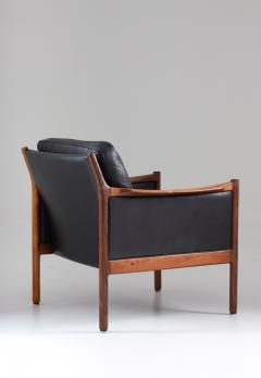 Torbjorn Afdal Scandinavian Midcentury Leather and Rosewood Lounge Chairs by Torbj rn Afdal - 1690138
