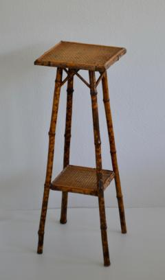 Tortoise Shell Bamboo Plant Stand - 1077797