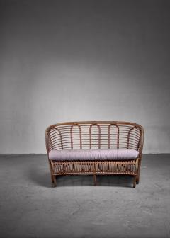 Tove Edvard Kindt Larsen Kindt Larsen bamboo and cane sofa Denmark - 1208961