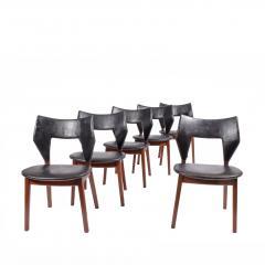 Tove Edvard Kindt Larsen Set of six dining chairs Tove Edvard Kindt Larsen for Torald Madsen 1960 - 1116037