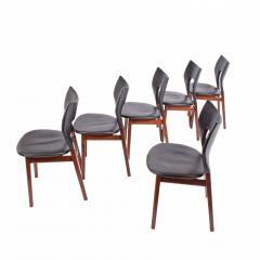 Tove Edvard Kindt Larsen Set of six dining chairs Tove Edvard Kindt Larsen for Torald Madsen 1960 - 1116042
