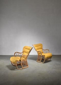 Tove Edvard Kindt Larsen Tove Edvard Kindt Larsen pair of bamboo chairs 1940s - 1174613