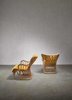 Tove Edvard Kindt Larsen Tove Edvard Kindt Larsen pair of bamboo chairs 1940s - 1174615
