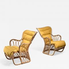 Tove Edvard Kindt Larsen Tove Edvard Kindt Larsen pair of bamboo chairs 1940s - 1175416