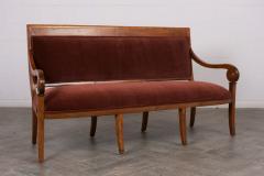 Traditional Circa 1830 French Empire Velvet Sofa - 1039105