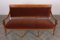 Traditional Circa 1830 French Empire Velvet Sofa - 1039106