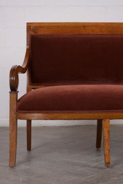 Traditional Circa 1830 French Empire Velvet Sofa - 1039107