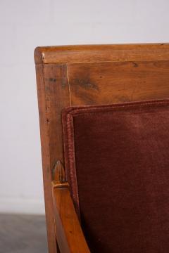 Traditional Circa 1830 French Empire Velvet Sofa - 1039108