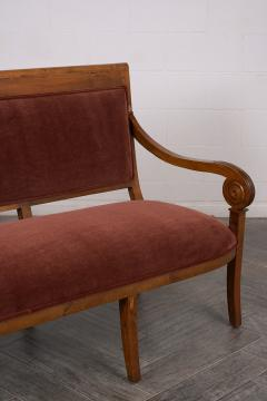 Traditional Circa 1830 French Empire Velvet Sofa - 1039109