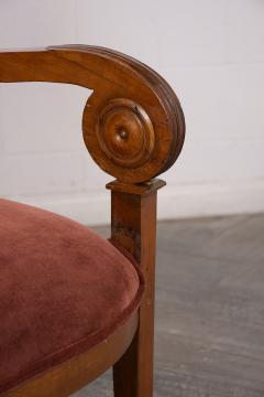 Traditional Circa 1830 French Empire Velvet Sofa - 1039110