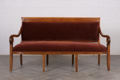 Traditional Circa 1830 French Empire Velvet Sofa - 1039113