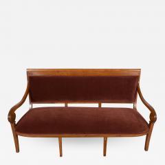 Traditional Circa 1830 French Empire Velvet Sofa - 1039635