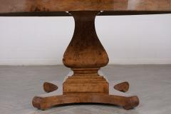 Traditional Empire Style Burl Wood Venners Round Dining Center Table - 1038179