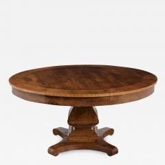 Traditional Empire Style Burl Wood Venners Round Dining Center Table - 1039634