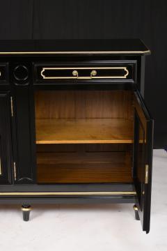 Traditional Louis XVI Style French Ebonized Finish Buffet - 1202033