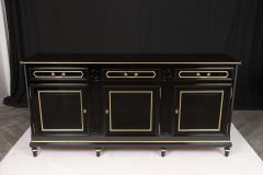 Traditional Louis XVI Style French Ebonized Finish Buffet - 1202035