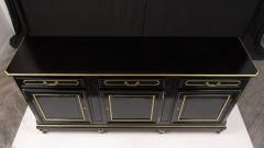 Traditional Louis XVI Style French Ebonized Finish Buffet - 1202036