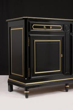 Traditional Louis XVI Style French Ebonized Finish Buffet - 1202039